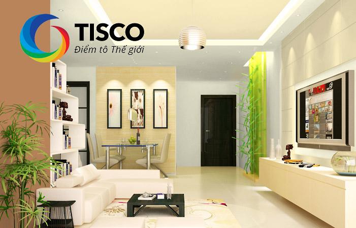 Thiết kế phòng đẹp cùng sơn Tisco